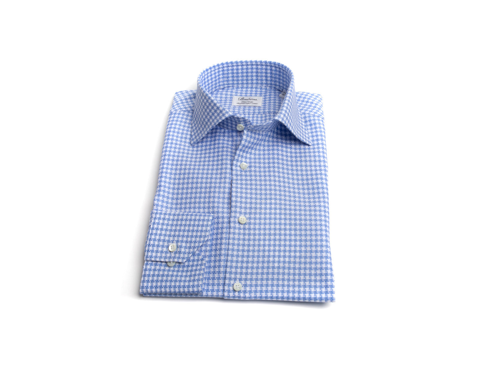 "Blue 'n White ""Super Chunk"" Tooth Dress Shirt"