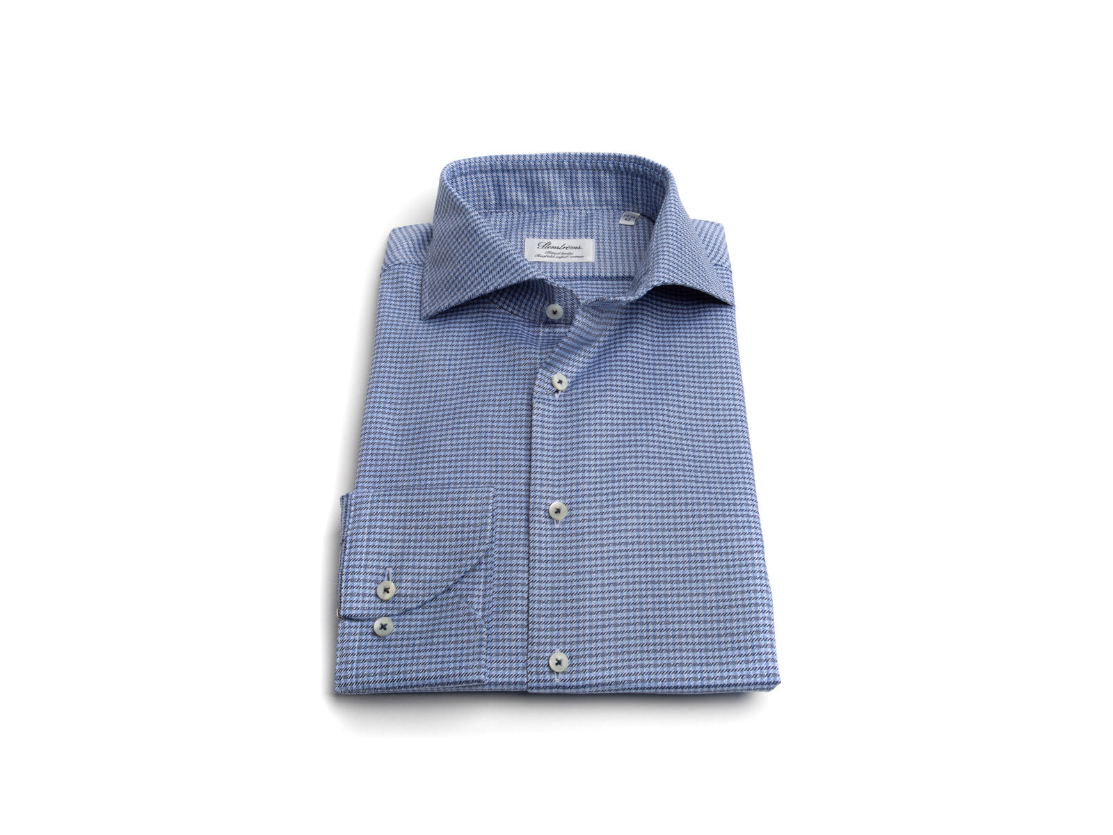 """Denim"" Micro Tooth Dress Shirt"
