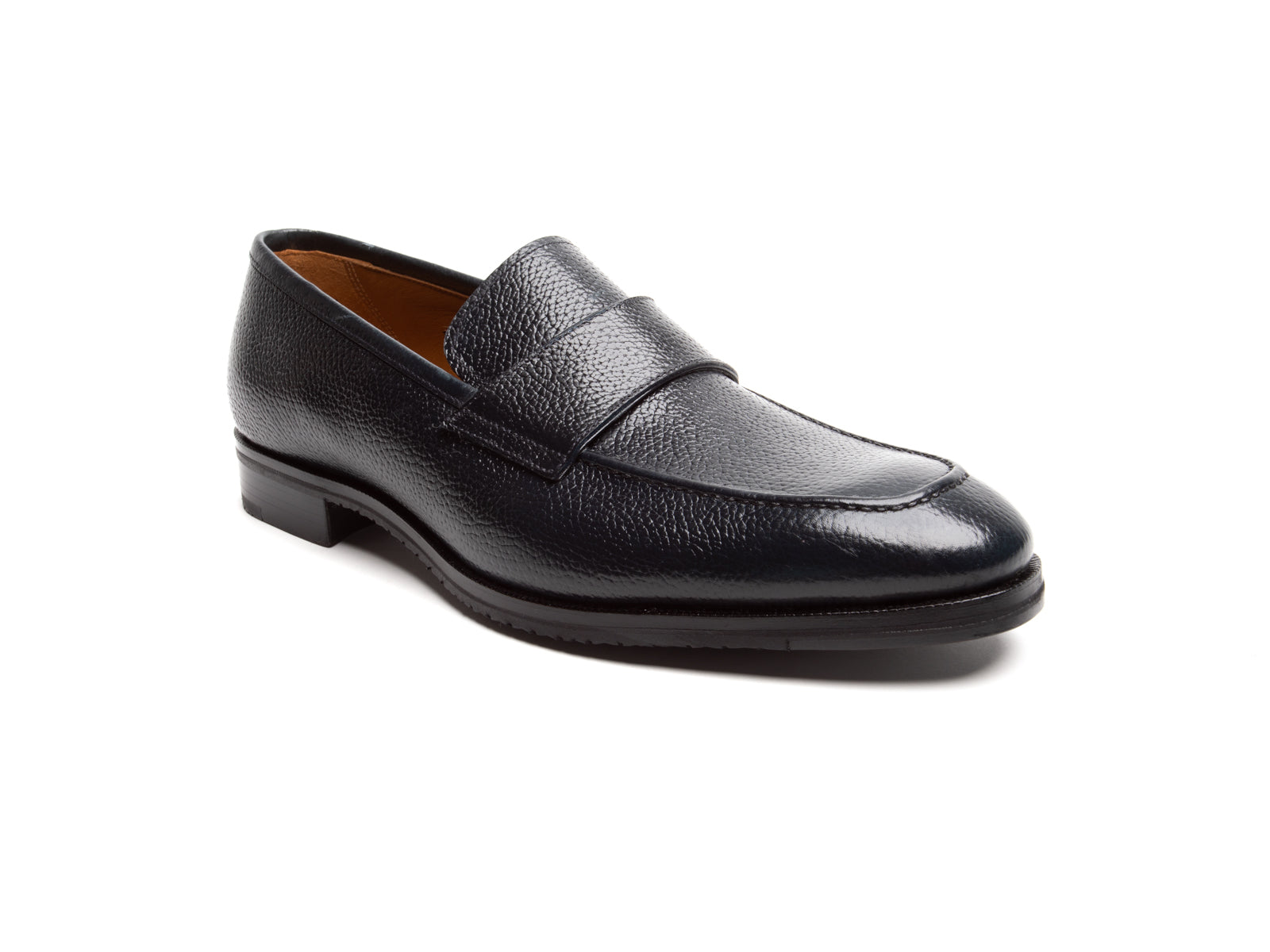 Dress Pebble Grained Blind Keeper Slip-On in Navy Calf