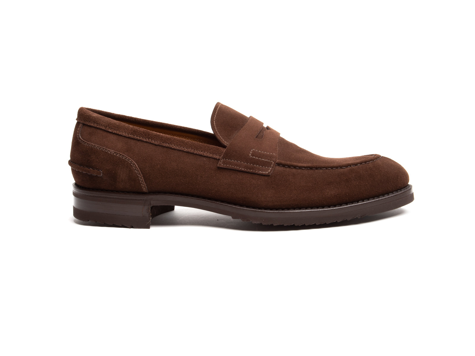 Water Resistant Suede Penny Loafer with Vibram Sole