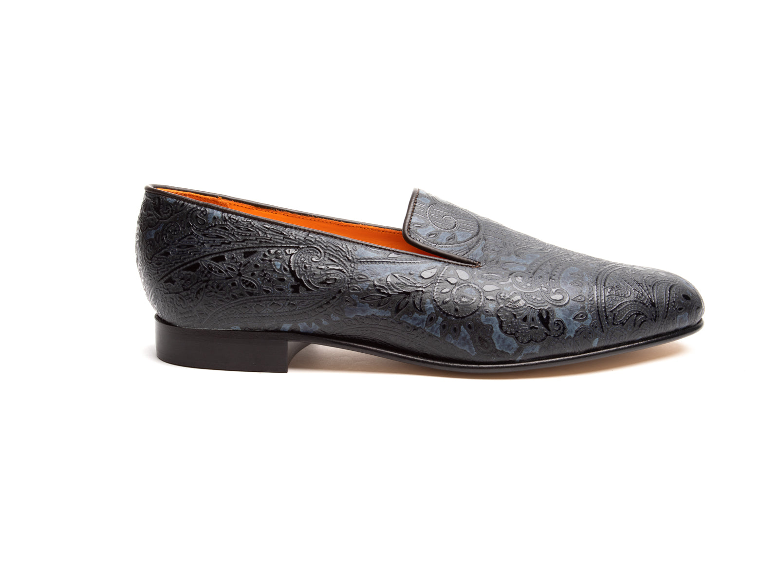 Denim Paisley Albert Slipper