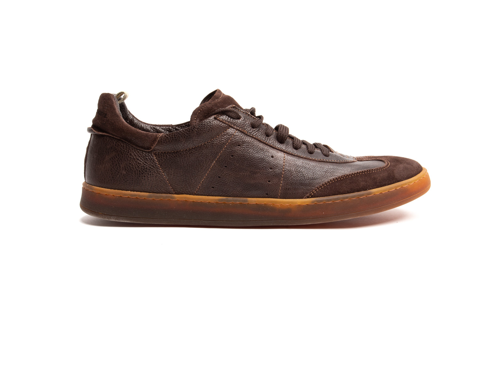 Mixed Media Oliver Giano Sneaker in Chocolate