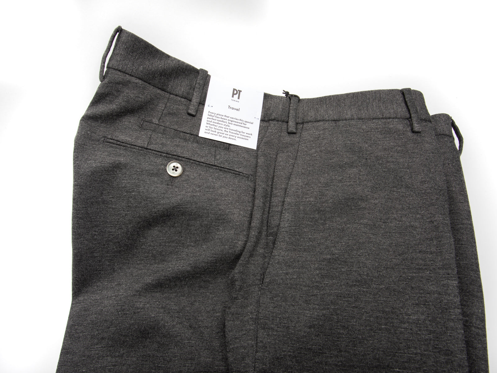 "Grey Jersey ""Travel"" Trouser"
