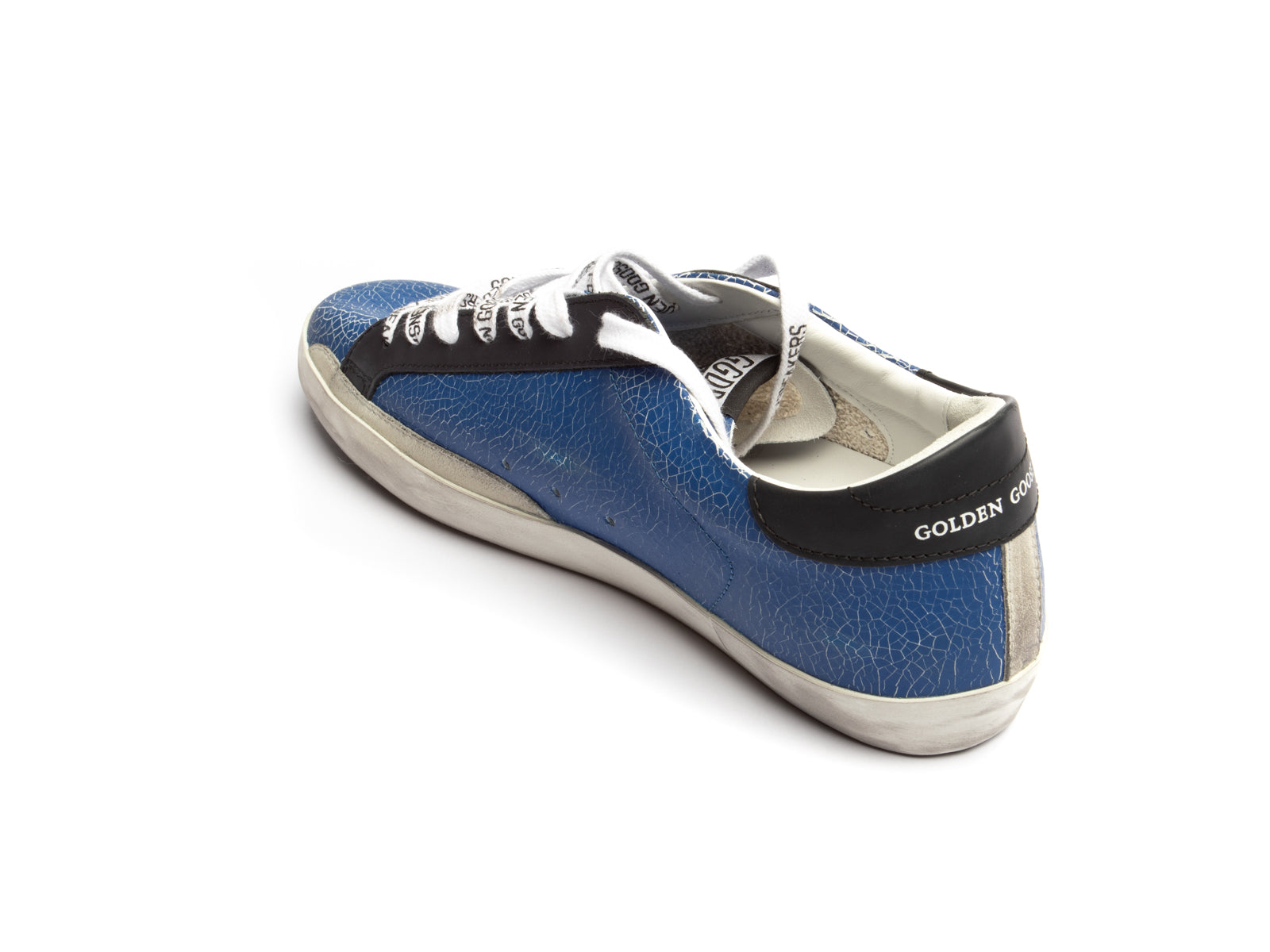 Superstar Sneaker in Blue Ice, Black and Suede Star