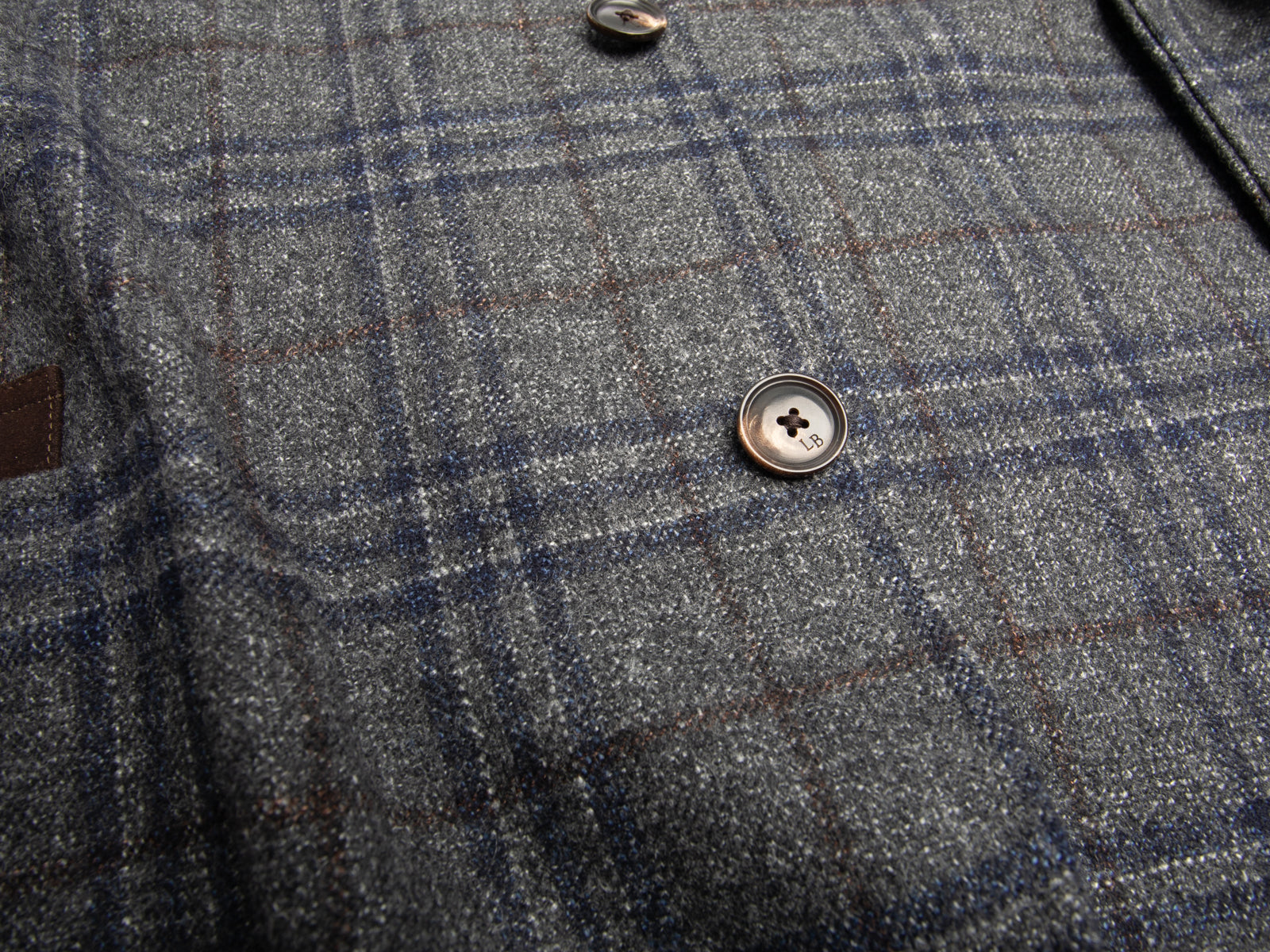 Deconstructed Gray Plaid Wool Blend