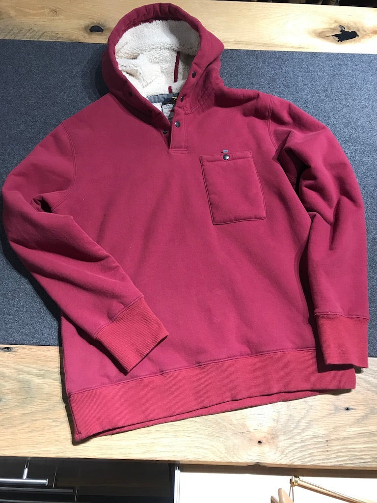 The Superfleece Hoodie in Crimson