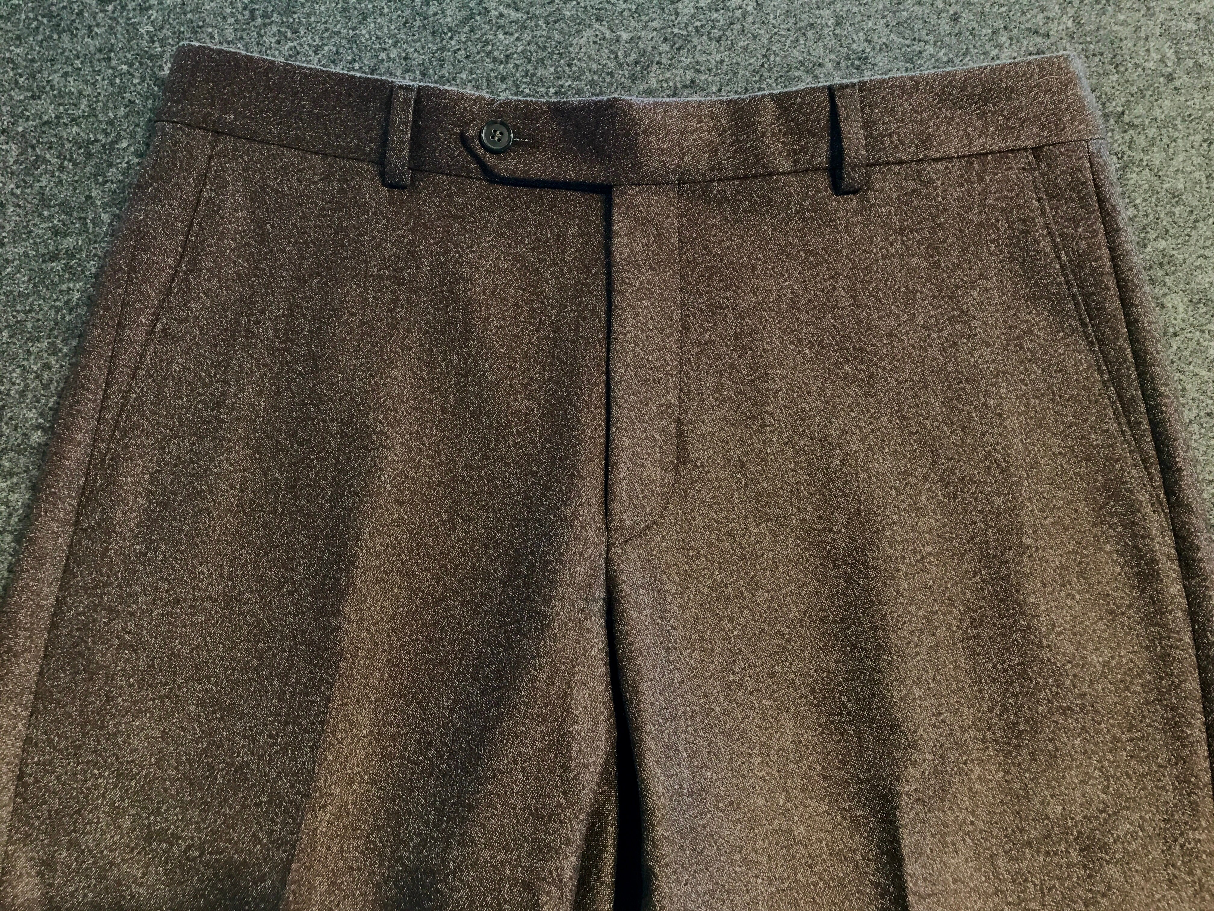 Super 110's Lightweight Donegal Flannel Chocolate Trouser