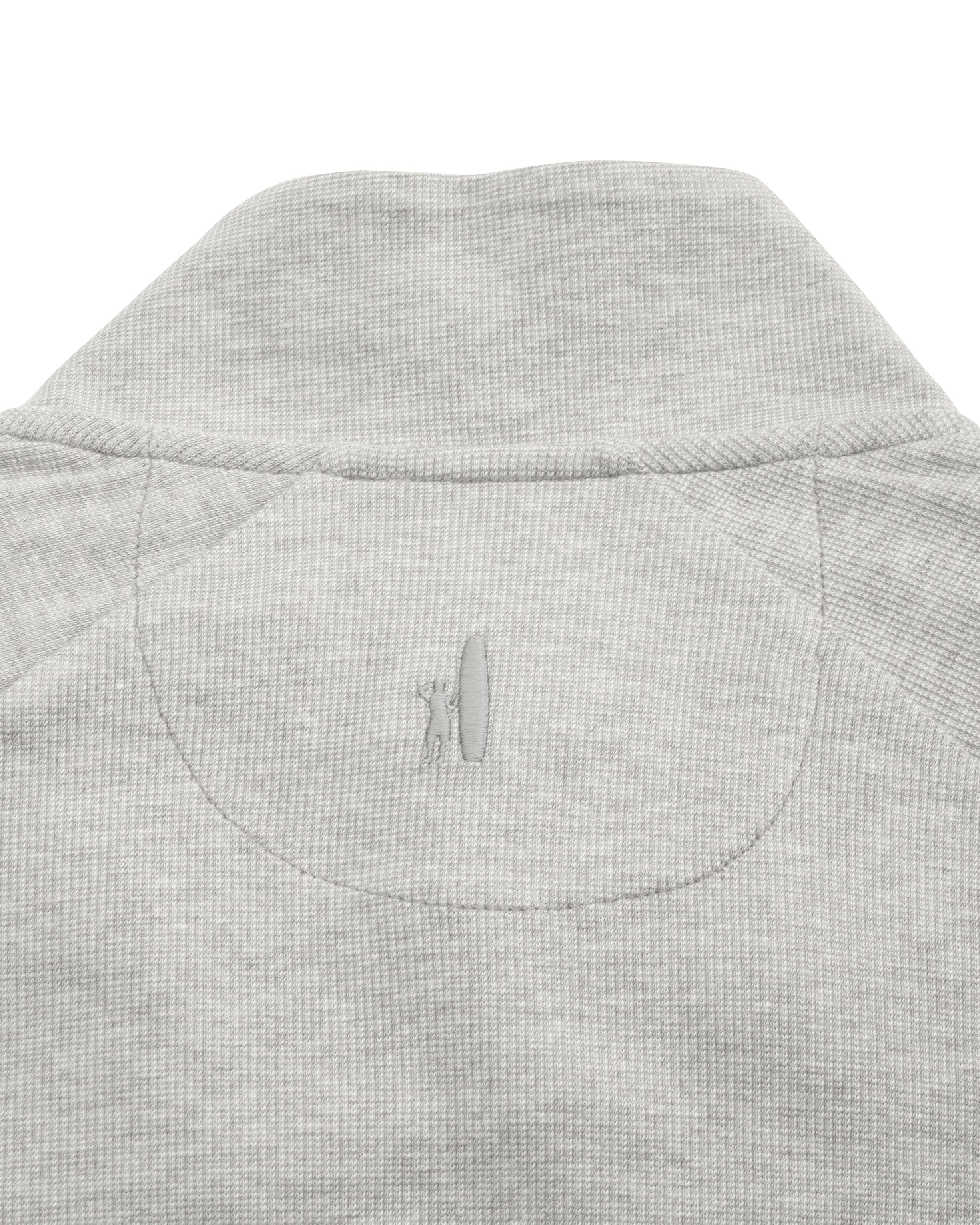 Whaling Henley Pullover in Light Gray