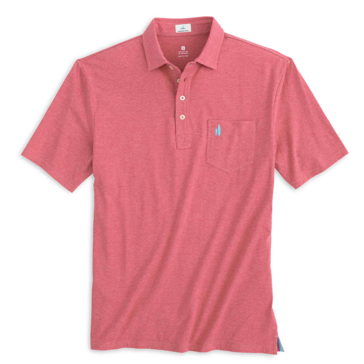 The Original 4-Button Polo in Rio Red