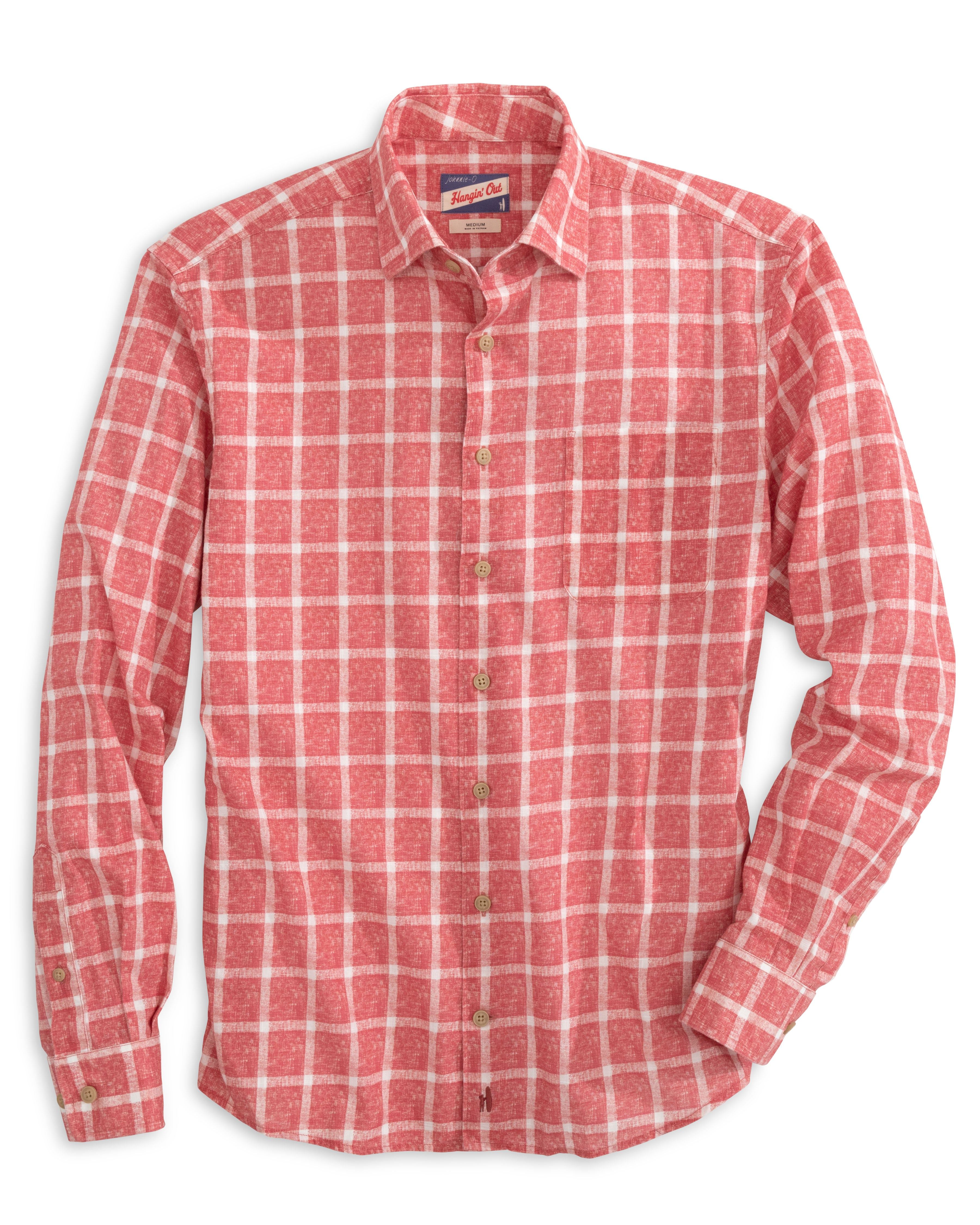 Alto Hangin' Out Button Down Shirt in Malibu Red