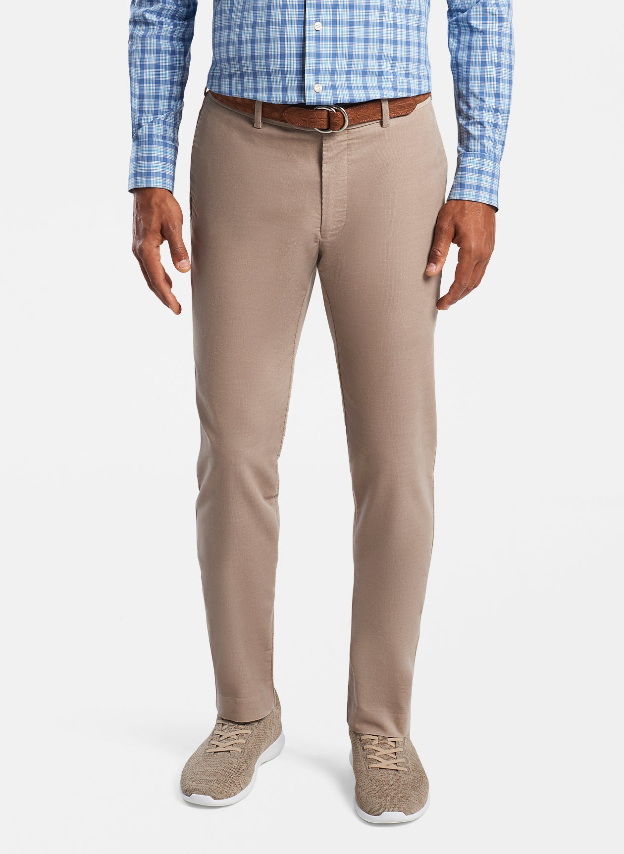 Crisman Performance Corduroy Trouser in Khaki