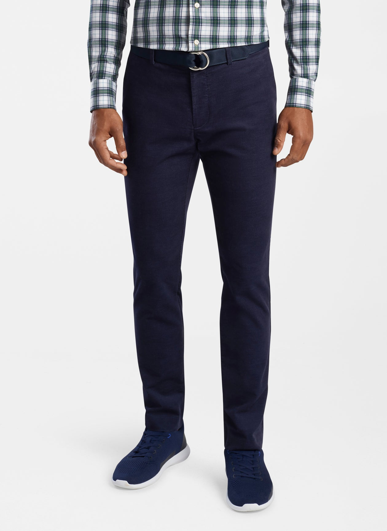 Crisman Performance Corduroy Trouser in Navy