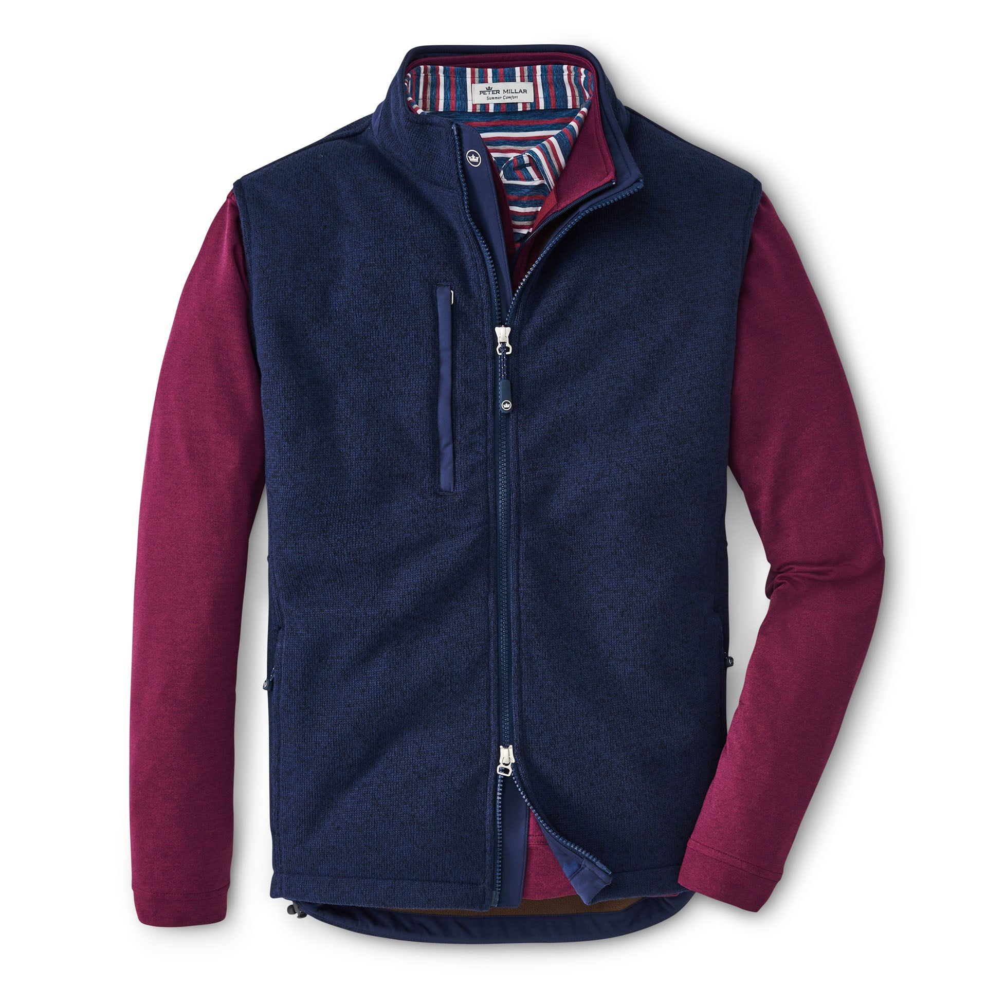 Condor Sweater Fleece Vest in Navy