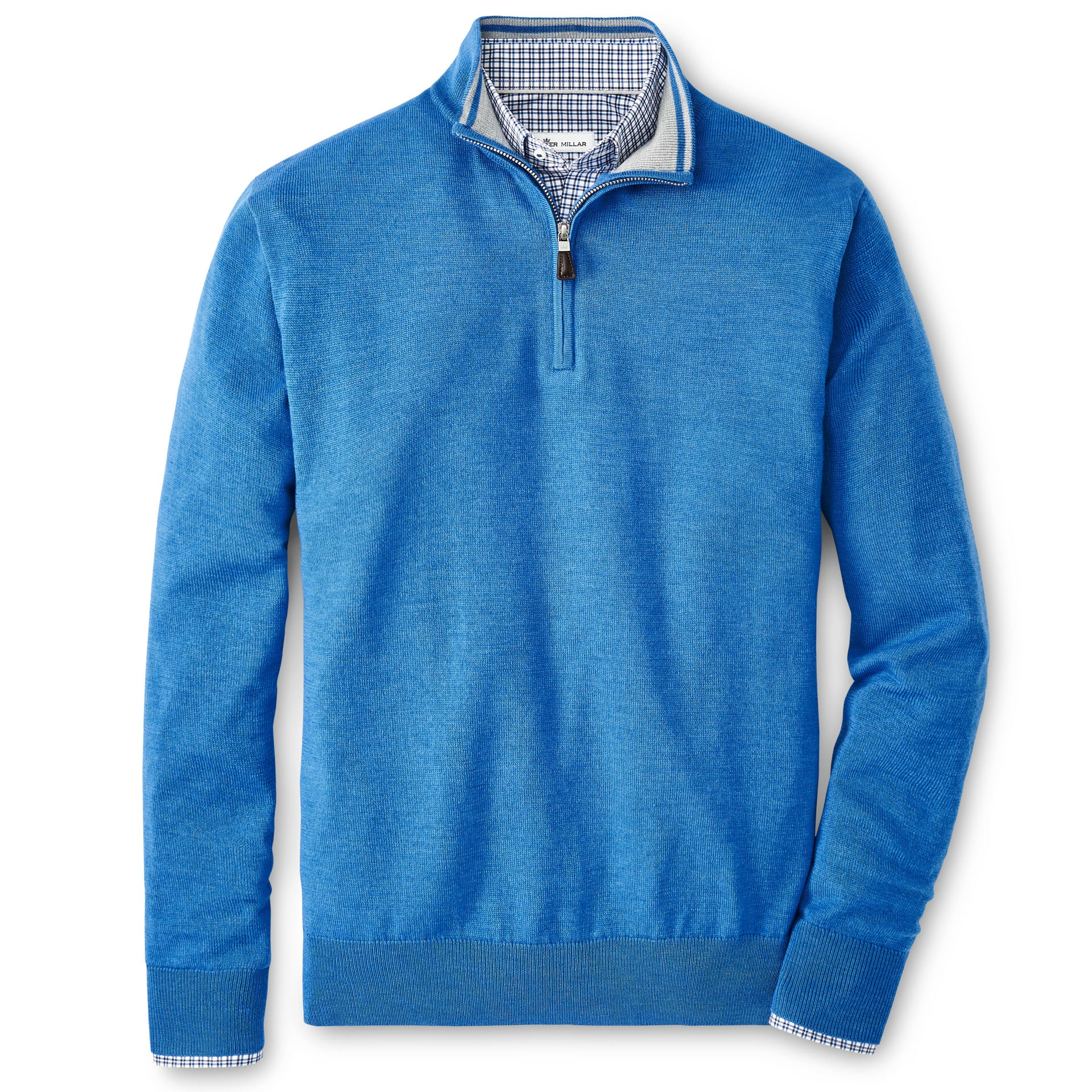 Crown Soft Merino-Silk Quarter-Zip in Cape Blue