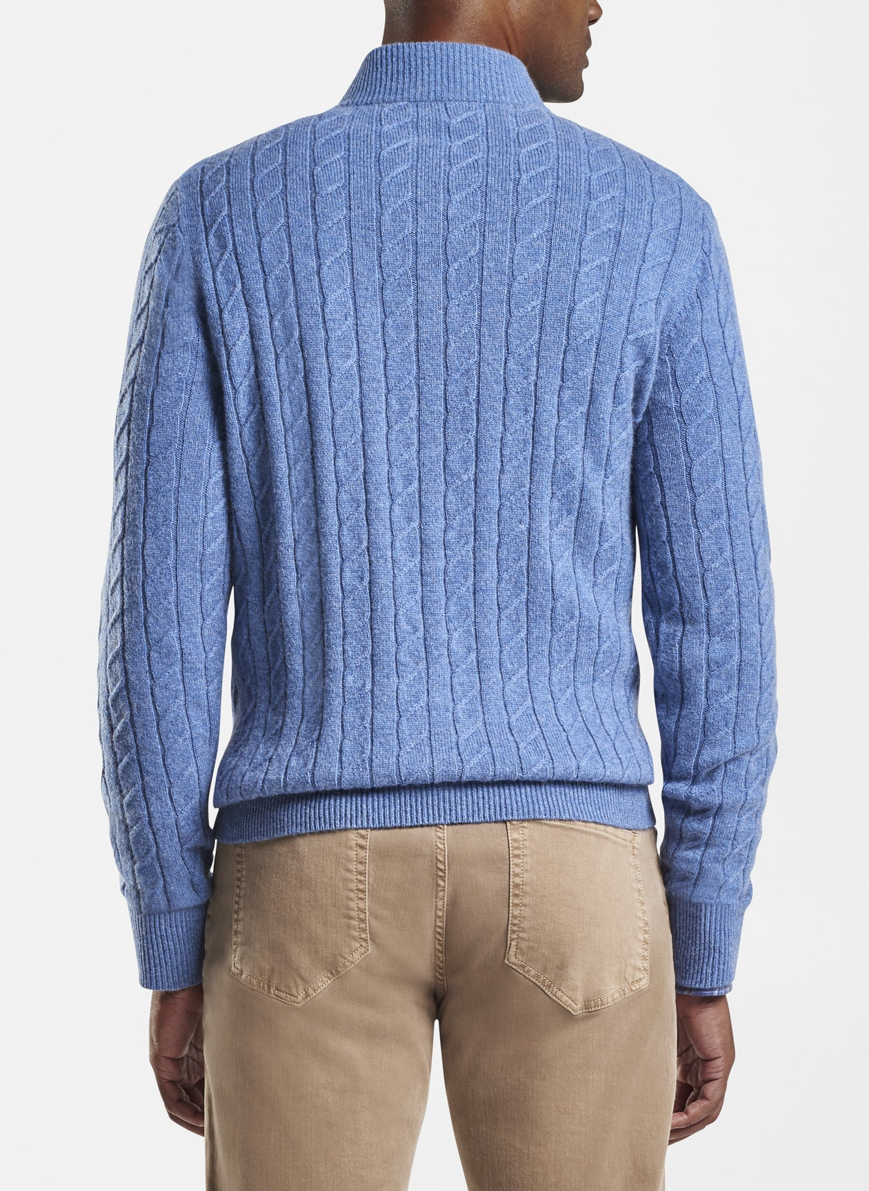 Wool Cable Quarter-Zip in Sailor Blue