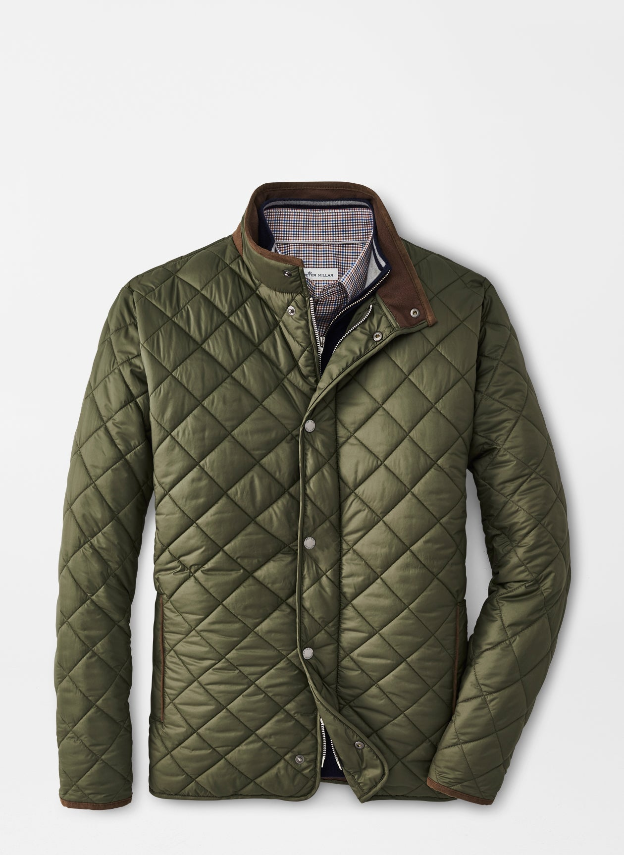 Quilted Travel Coat - Olive
