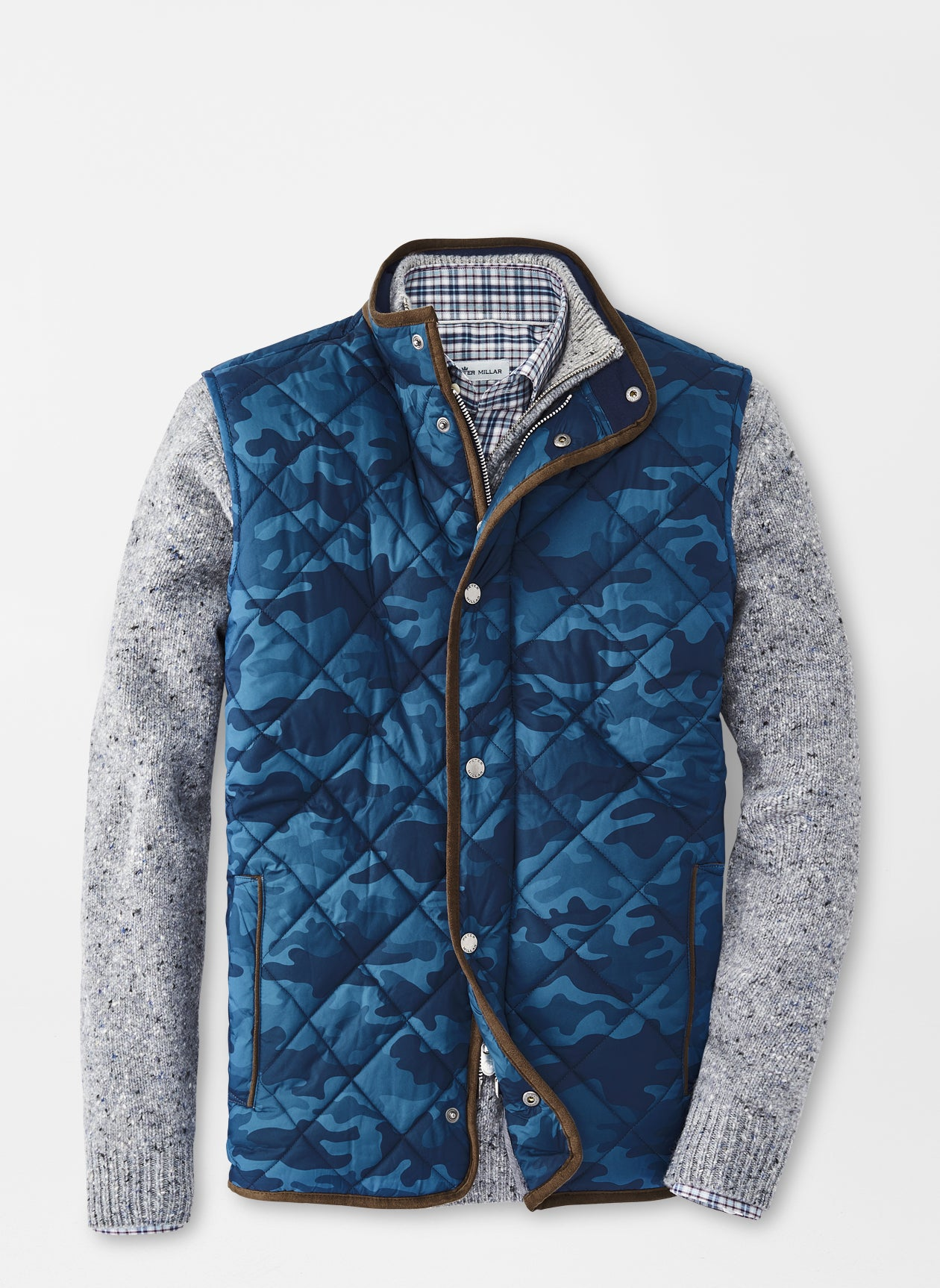 Essex Quilted Travel Vest in Navy