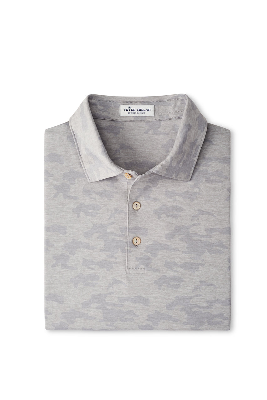 Carter Performance Jersey Polo in Gale Grey