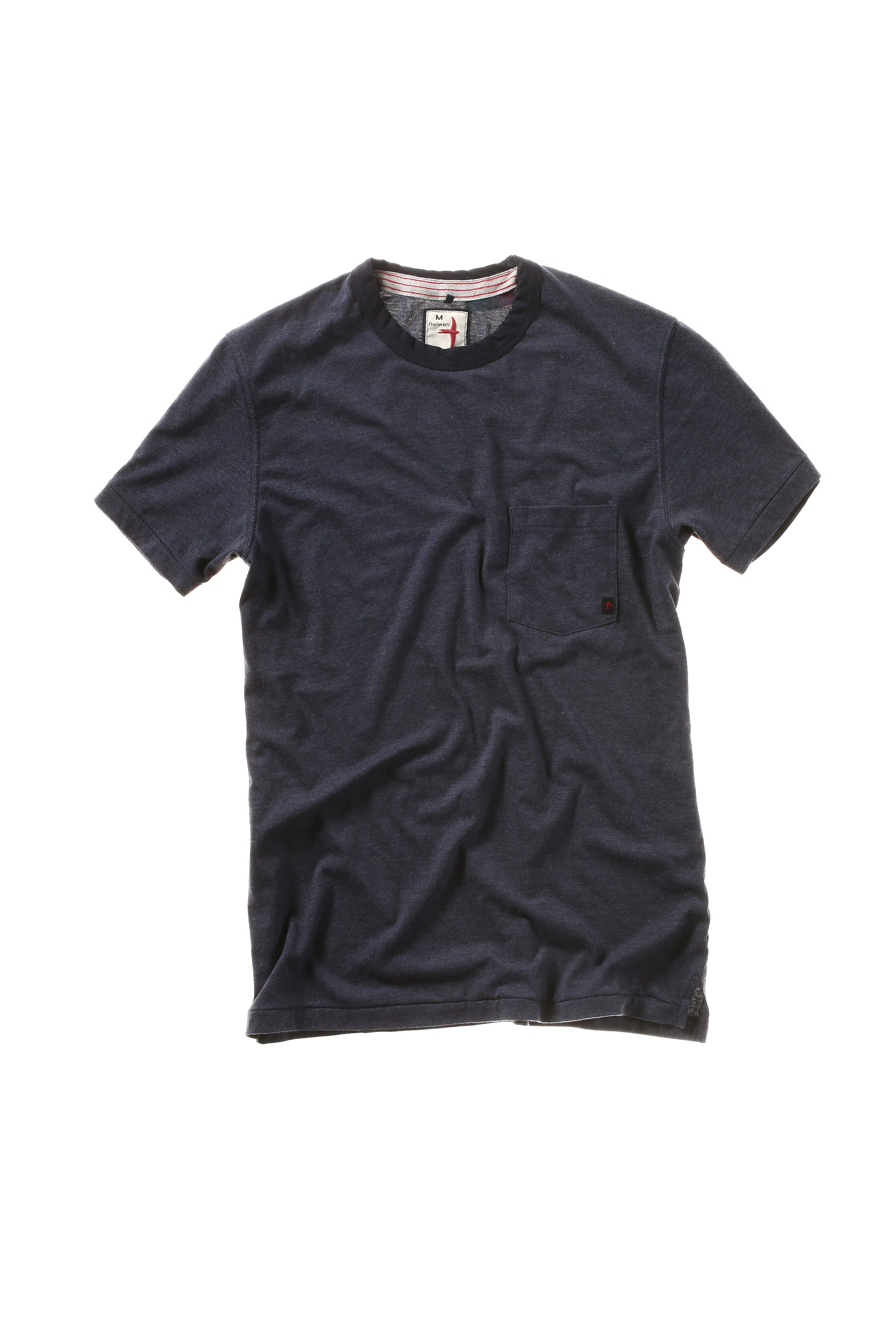 Ringer Pocket Tee in Midnight Heather
