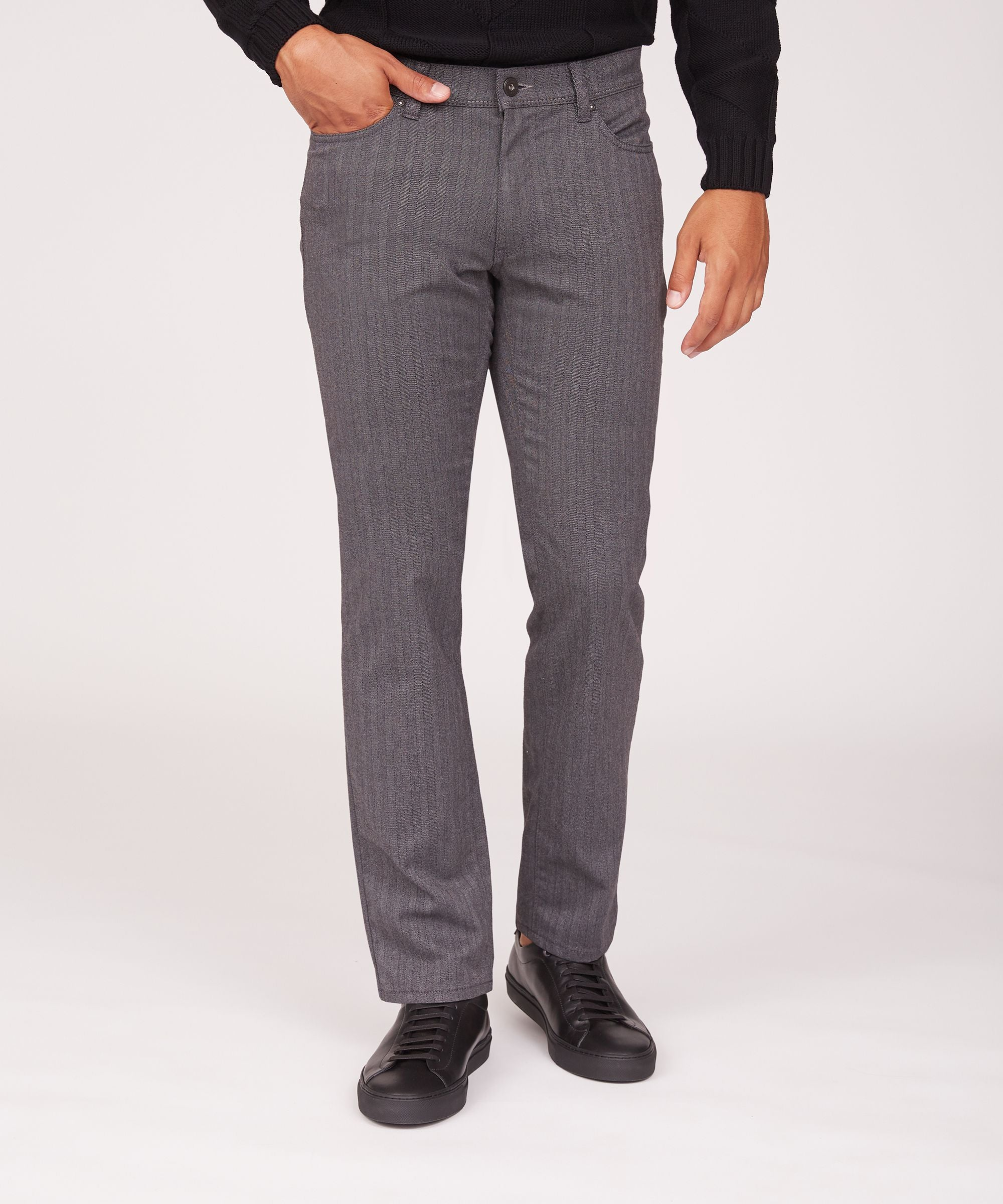 """Woo.Look 3.0"" Gray Herringbone 5 Pocket"