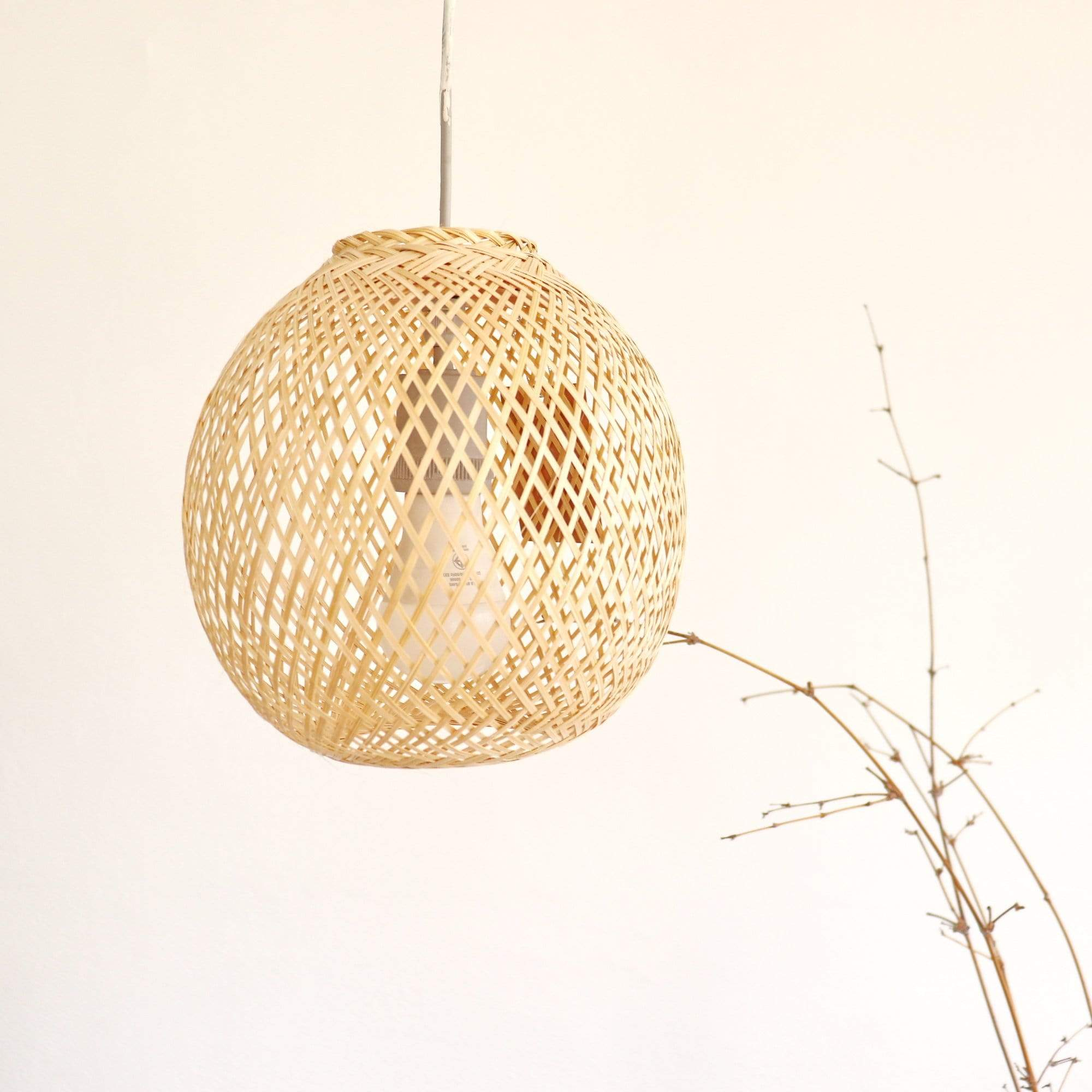 THAIHOMESHOP Bamboo Pendant Light JUNDARA - ROUND BAMBOO LIGHT