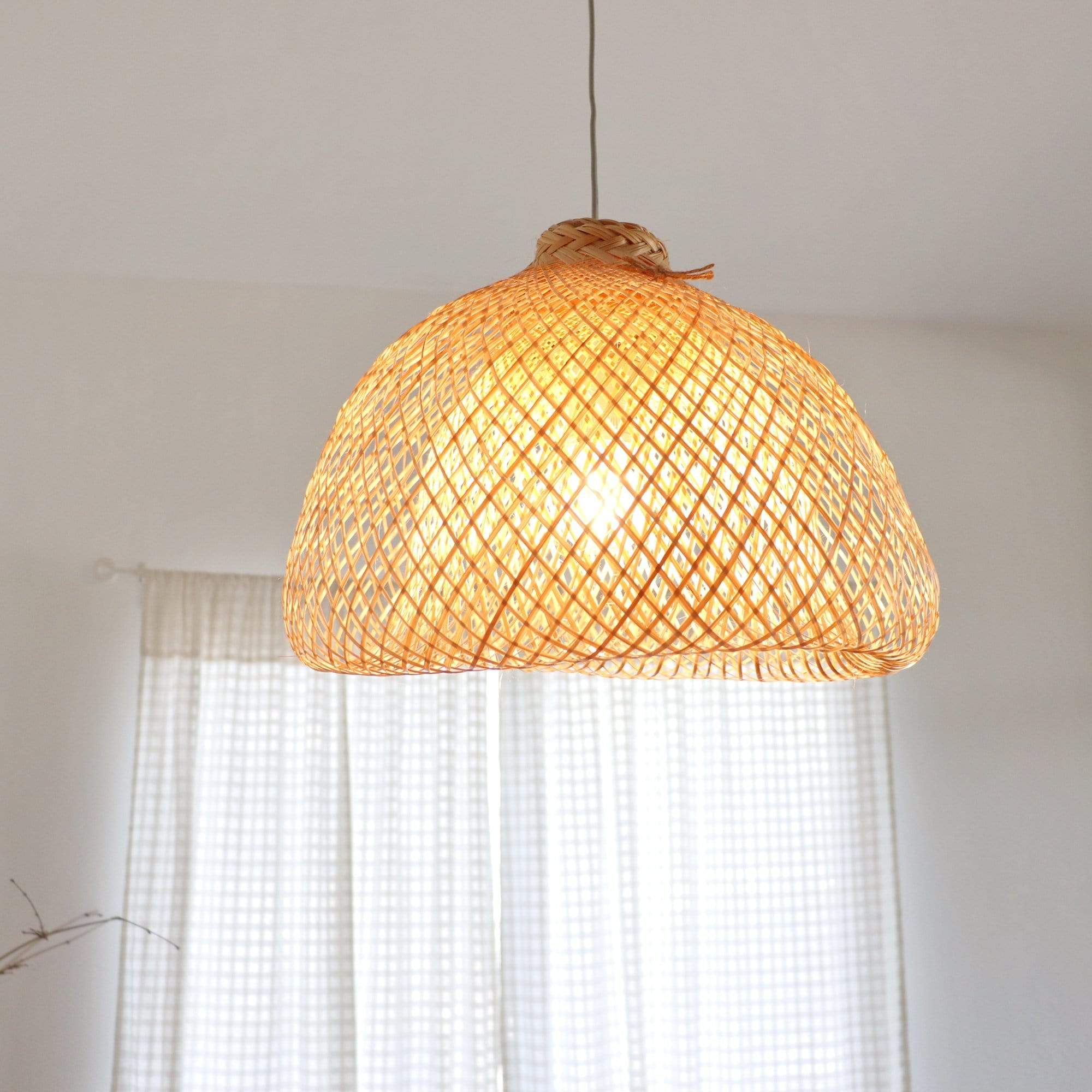 THAIHOMESHOP Bamboo Pendant Light RUNGSAN - BAMBOO PENDANT LIGHT