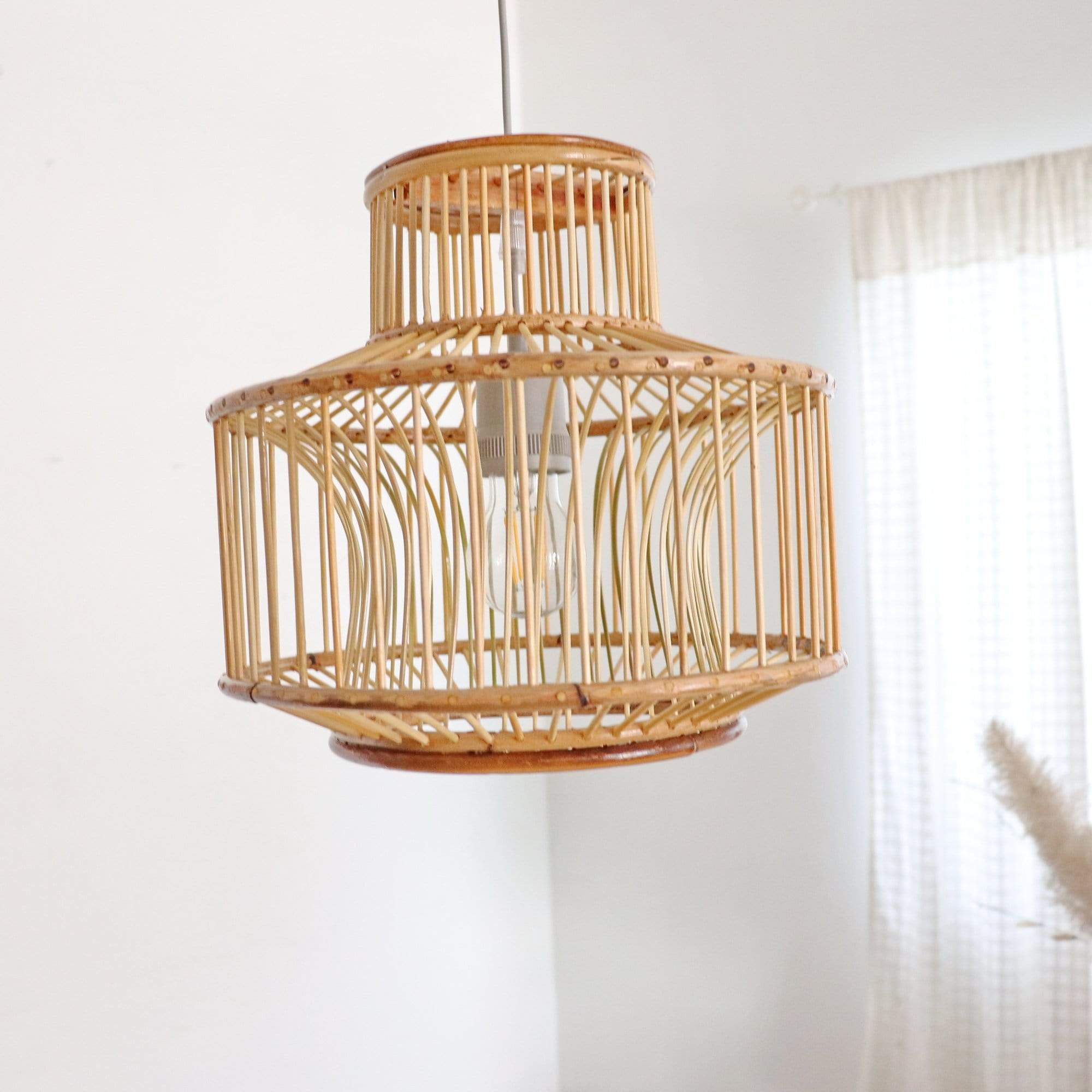 THAIHOMESHOP Bamboo Pendant Light TAWAN - BAMBOO PENDANT LIGHT