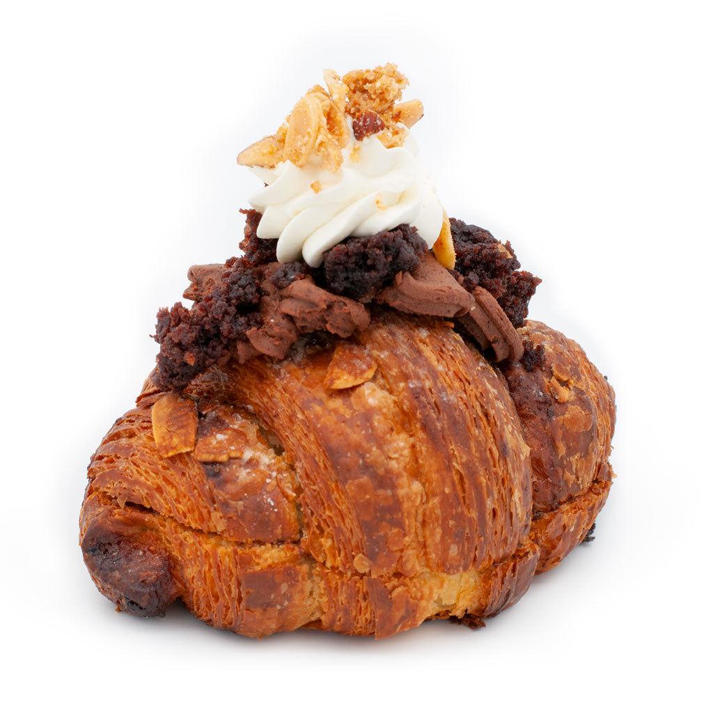 Double-Baked Chocolate Cake Croissant