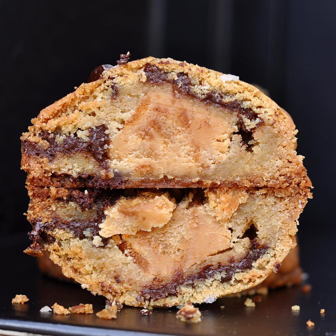 Fudge Stuffed Chocolate Chip Cookie