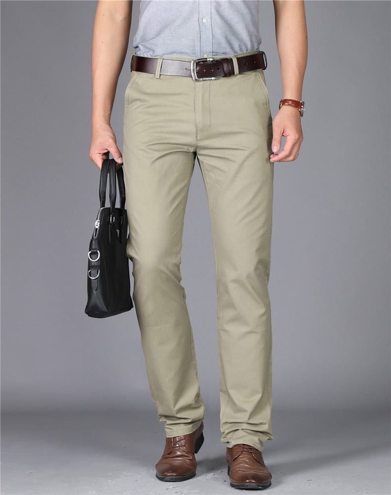 New Mens High-waisted Trousers