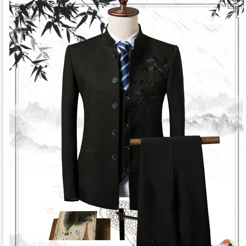 Men's blazers business gentleman Chinese style