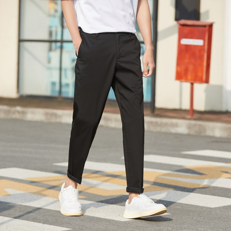 fashion simple straight pants men's comfortable pants