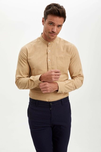 Man Long Sleeve Shirt Men Smart Casual Shirts