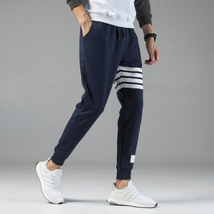 New Men's Casual Sweatpants Solid High Street Trousers