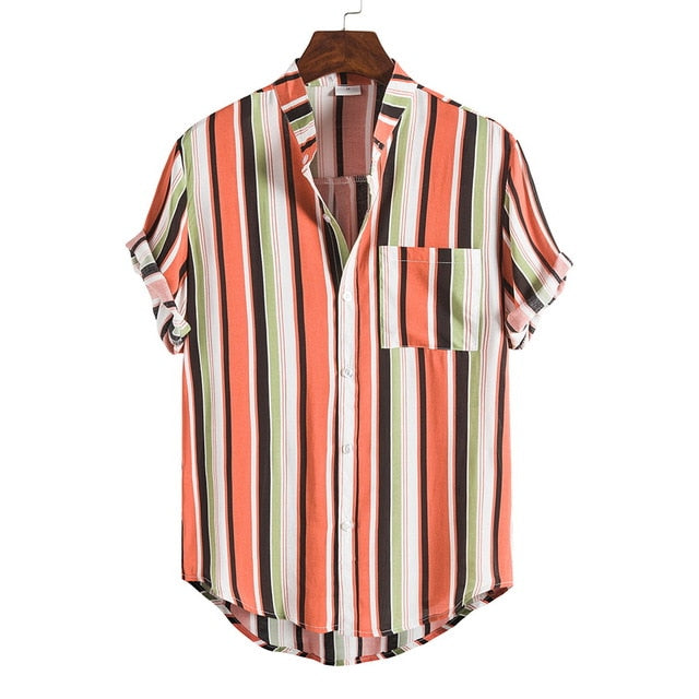 5XL Plus Size Men's new summer fashion shirts