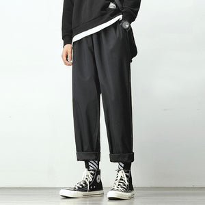 Men's Joggers Harem Pants Man Black Trouser