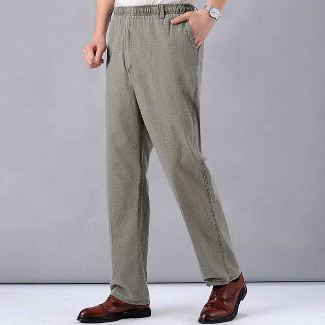 Men's High Waist Trausers Summer Pants