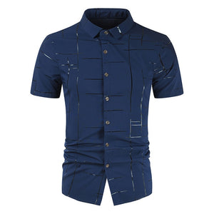 Male Short Sleeve Tops Casual Shirt Men's Slim