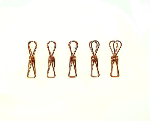 Bare & Co. - Stainless Steel Large Pegs - ROSE GOLD Marine Grade (BULK 100 Pack) Bare & Co. - The Well Store