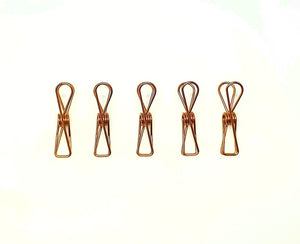 Bare & Co. - Stainless Steel Large Pegs - ROSE GOLD Marine Grade (50 Pack) Bare & Co. - The Well Store