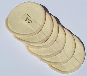Reusable Hemp Make Up Face Pads - White (6 Pack)