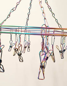 316 Grade Stainless Steel Peg Hanger (20 pegs) - Rainbow Curve Design