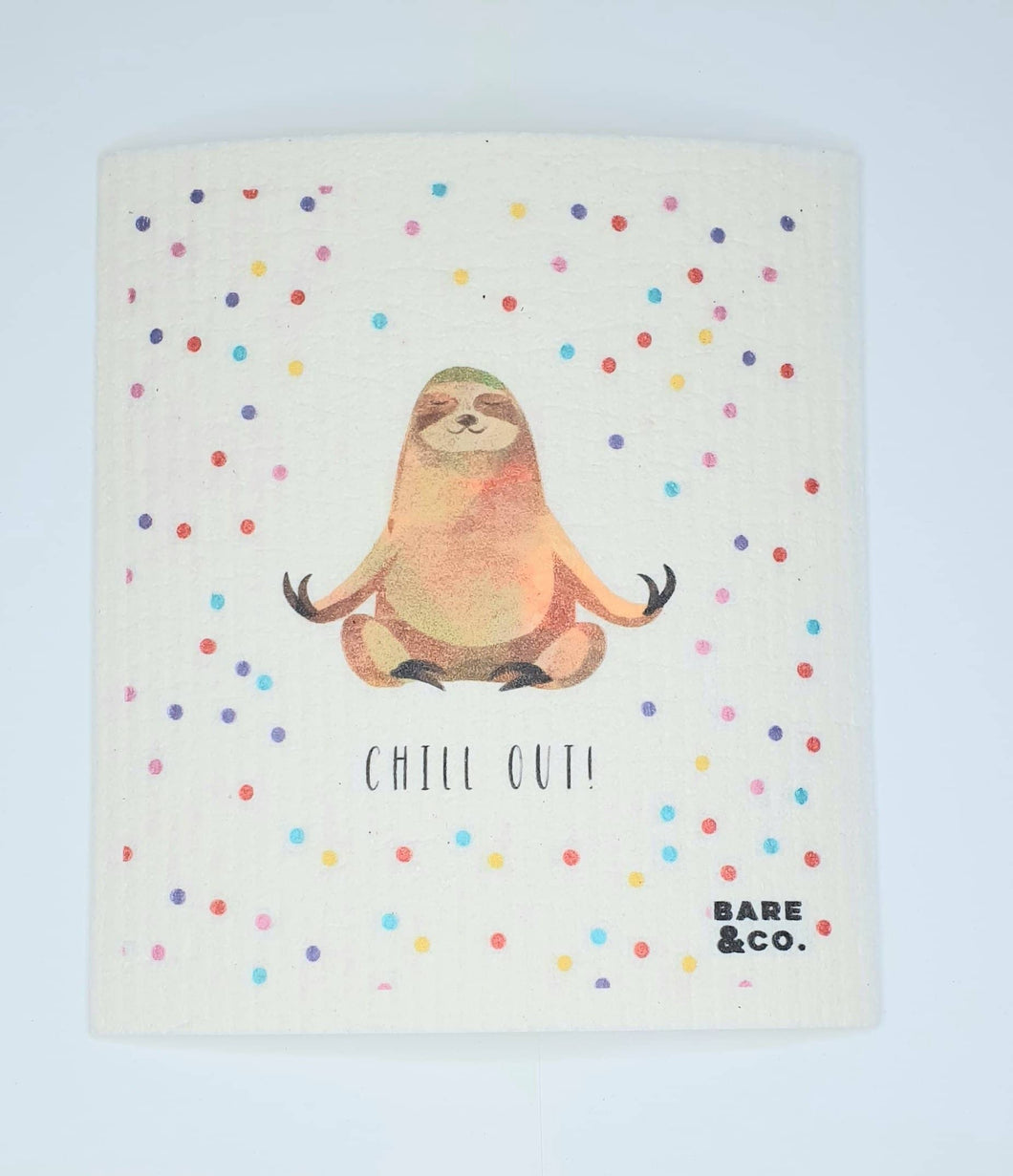 Reusable Cellulose Cloth - Sloth