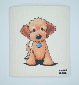 Reusable Cellulose Cloth - Puppy