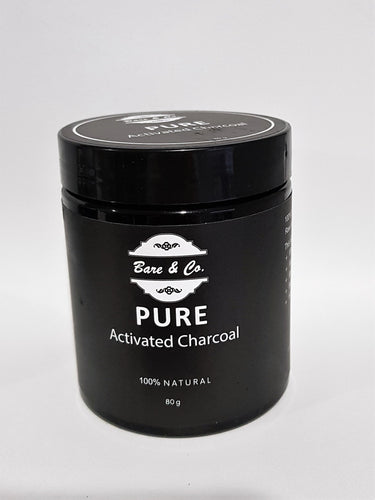 Bare & Co. - Pure Activated Charcoal Powder (80g) Bare & Co. - The Well Store