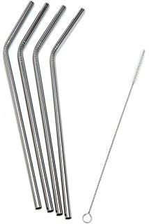 Bare & Co. - Stainless Steel Straws - Bent (4 Pack with Bonus Cleaner) Bare & Co. - The Well Store