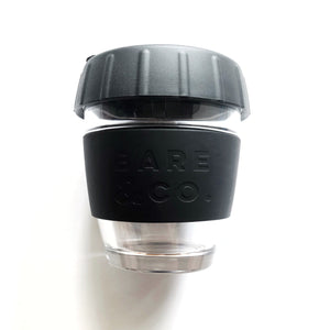 Bare & Co. - Reusable Coffee Cup with Plug Lid - Black (8oz/227ml) Bare & Co. - The Well Store