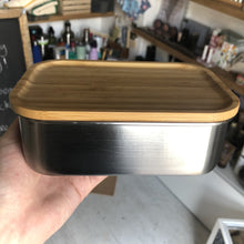 Load image into Gallery viewer, Stainless Steel Lunch Box with Bamboo Lid (800ml)