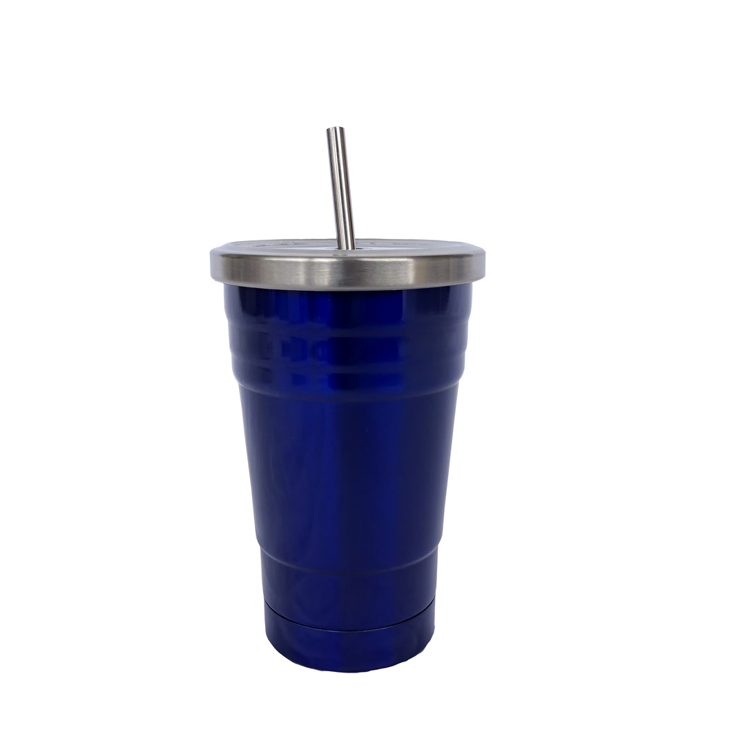 Kids Insulated Drink Tumbler - Electric Blue (250ml)
