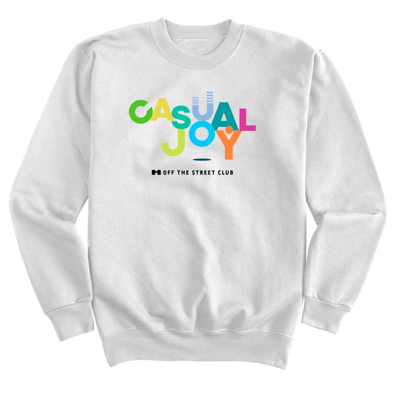 Casual Joy Sweatshirt - White
